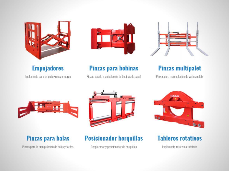 Implementos para carretillas elevadoras en Autofrutos Murcia